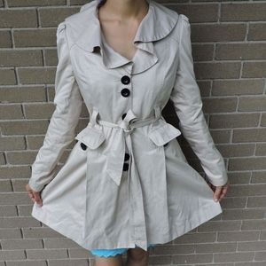 Lipsy London VINTAGE beige trench coat small